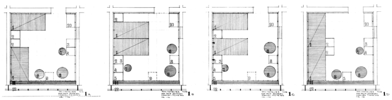 SAS House, Room 606, Copenhagen 11_Arne Jacobsen sketch plans