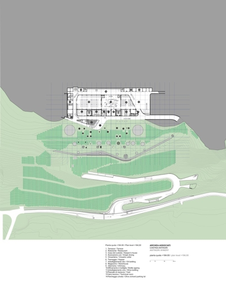 Antinori Winery by Archea Associati_184.00_Level_Plan