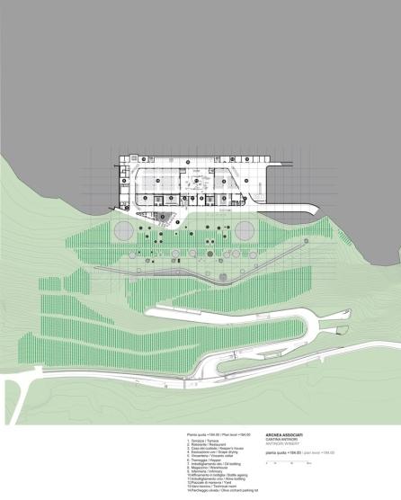 Antinori Winery by Archea Associati_184.00_Level_Plan