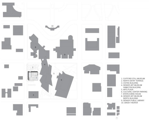 Clyfford Still Museum by Allied Works Architecture - location plan