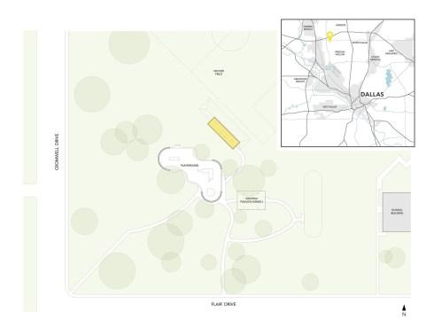 Webb Chapel Park Pavilion by Studio Joseph - Site Plan